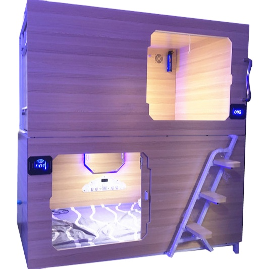 WIMI Sleeping Bed Wooden japanese pod space capsule hostel beds capsule bunk bed sleeping pods
