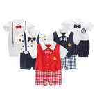 100% Cotton Baby Clothes Set Little Gentleman Embroidery Pattern New Born Clothes