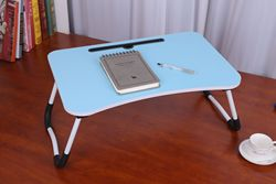 Folding Laptop Desk Lazy Home Office Work Sofa Bed Dormitory Tablet Book Stand Food Coffee Tray Table