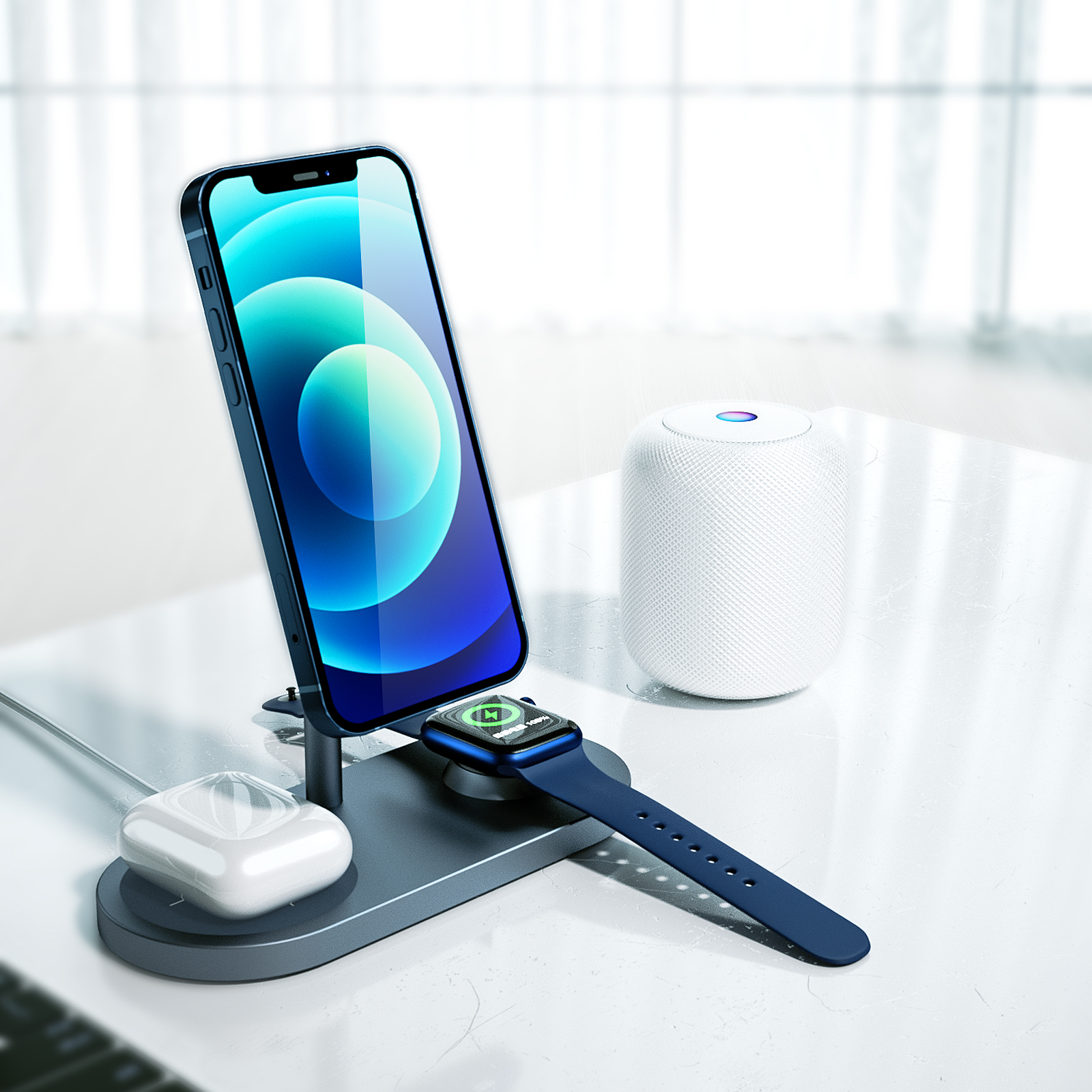 WiWU X23 3 in 1 Power Air Wireless Charger