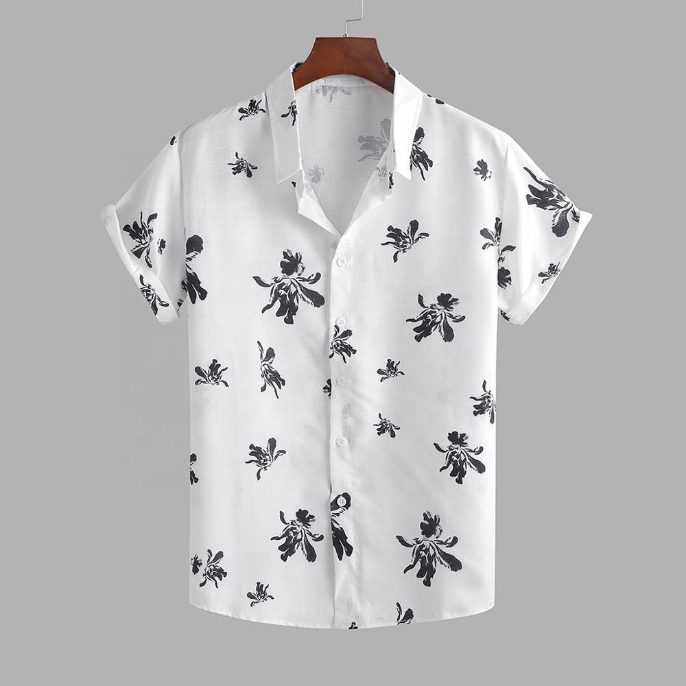 Best selling summer hot style men hawaii print shirt for men