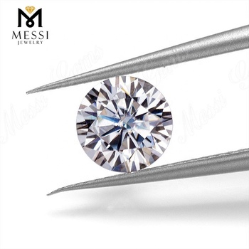 Messi Jewelry fake diamond gems 8mm moissanite loose gemstones 2 carat synthetic VVS moissanite diamond