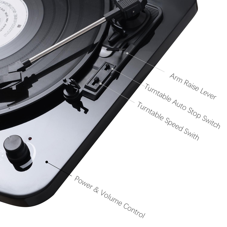 Высококачественный граммофон со встроенными динамиками, проигрыватель виниловых пластинок