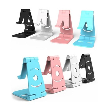 Double Folding Portable Mini Mobile Phone Holder Foldable Desk Stand Holder for iPhone Android Phone ipad