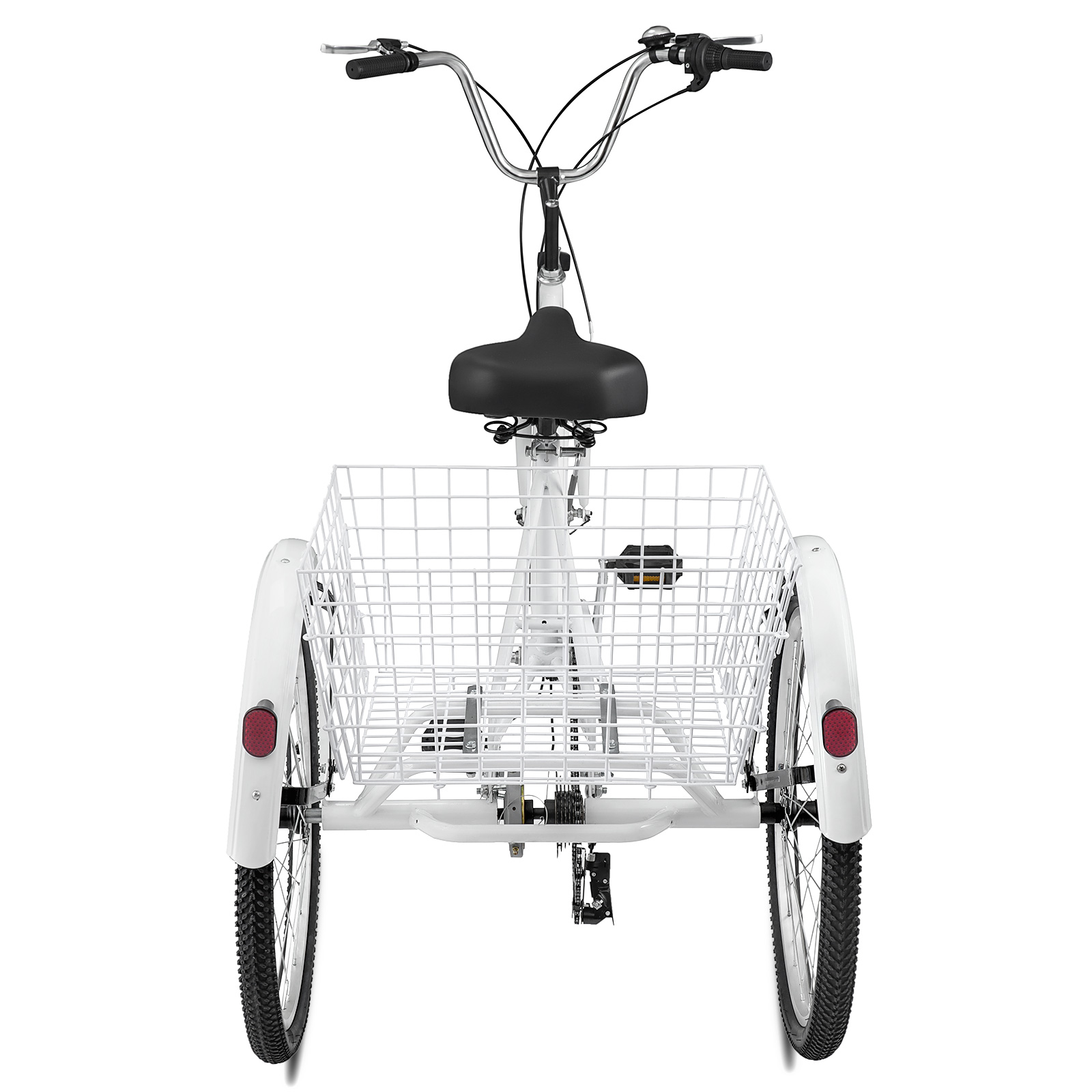 2020 popular 24 inch three wheel hub brake tone basket tricycle cargo tricycle with Cargo Tricycle made in China
