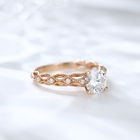 14k Diamond Cut 14k Engagement Ring Jewelry 14k Rose Gold Rings Women Diamond Cut Moissanite Engagement Ring
