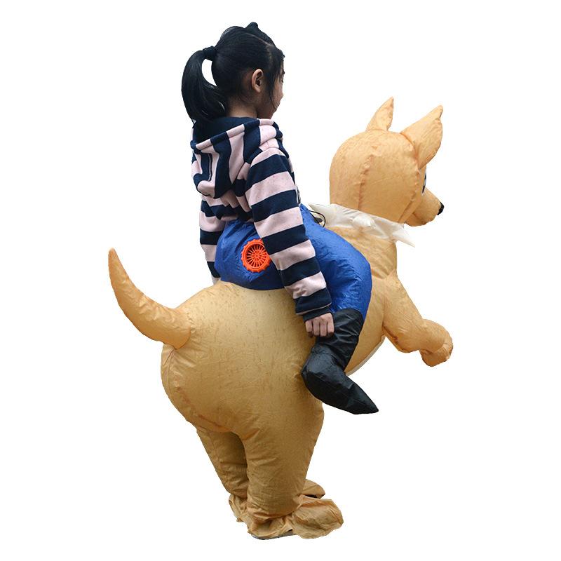 Новинка 2019, надувная собака для детской вечеринки, надувной костюм для выступления на сцене, косплей, забавные детские игрушки