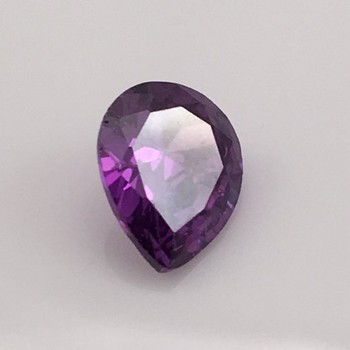 lab created fake diamond decorations violet Pear shaped Cubic Zirconia Gemstone