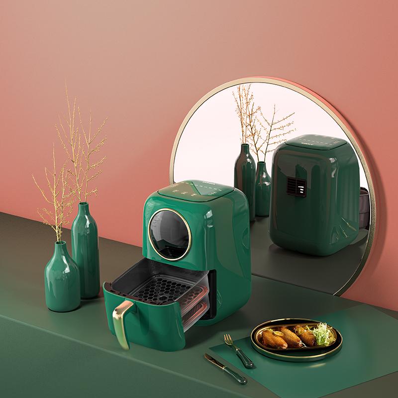 KONKA бытовой визуальный круглые открытые окна, двухслойная гриля и жарки, управляемый плита свет, аэрофритюрница для приготовления блюд без KGKZ-AS9