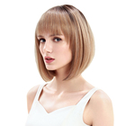 Cheap Color Hair Cheap Synthetic Hair Wigs Noble Gold Natural Looking Wholesale Cheap Woman Wig Heat Resistant Fiber Short High Color Bob Synthetic Hair Wigs