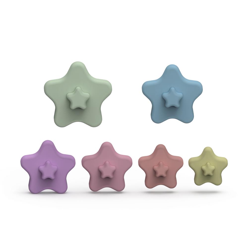 Лидер продаж Amazon, детские развивающие силиконовые Многослойные игрушки в форме сердца, можно настроить цвет и логотип