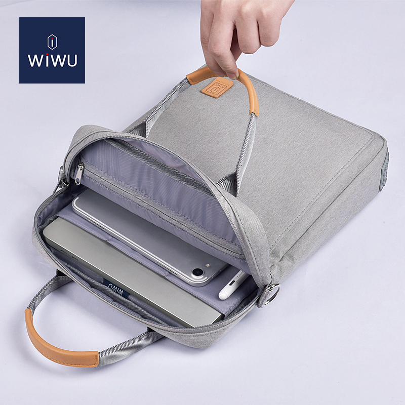 WiWU Portable Tablet Bag Vertical Carrying Notebook PC Protective Case