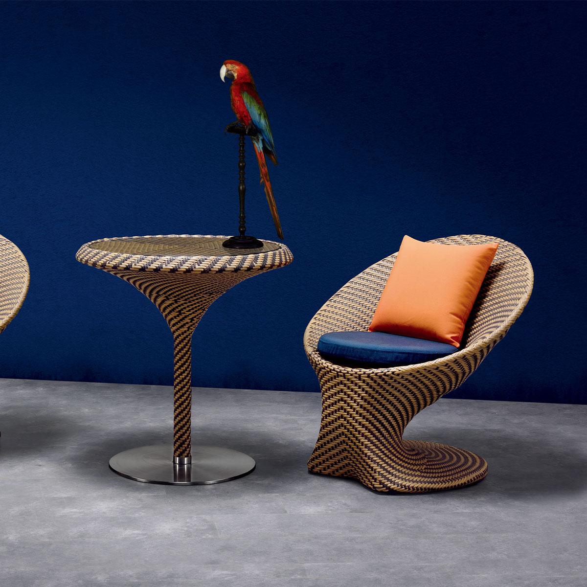 Высококачественный современный алюминиевый ротанговый стул Mr.Dream для отдыха, ресторанов, патио, бистро, сада