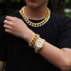 Gold (8inch bracelet + 24inch necklace + watch)