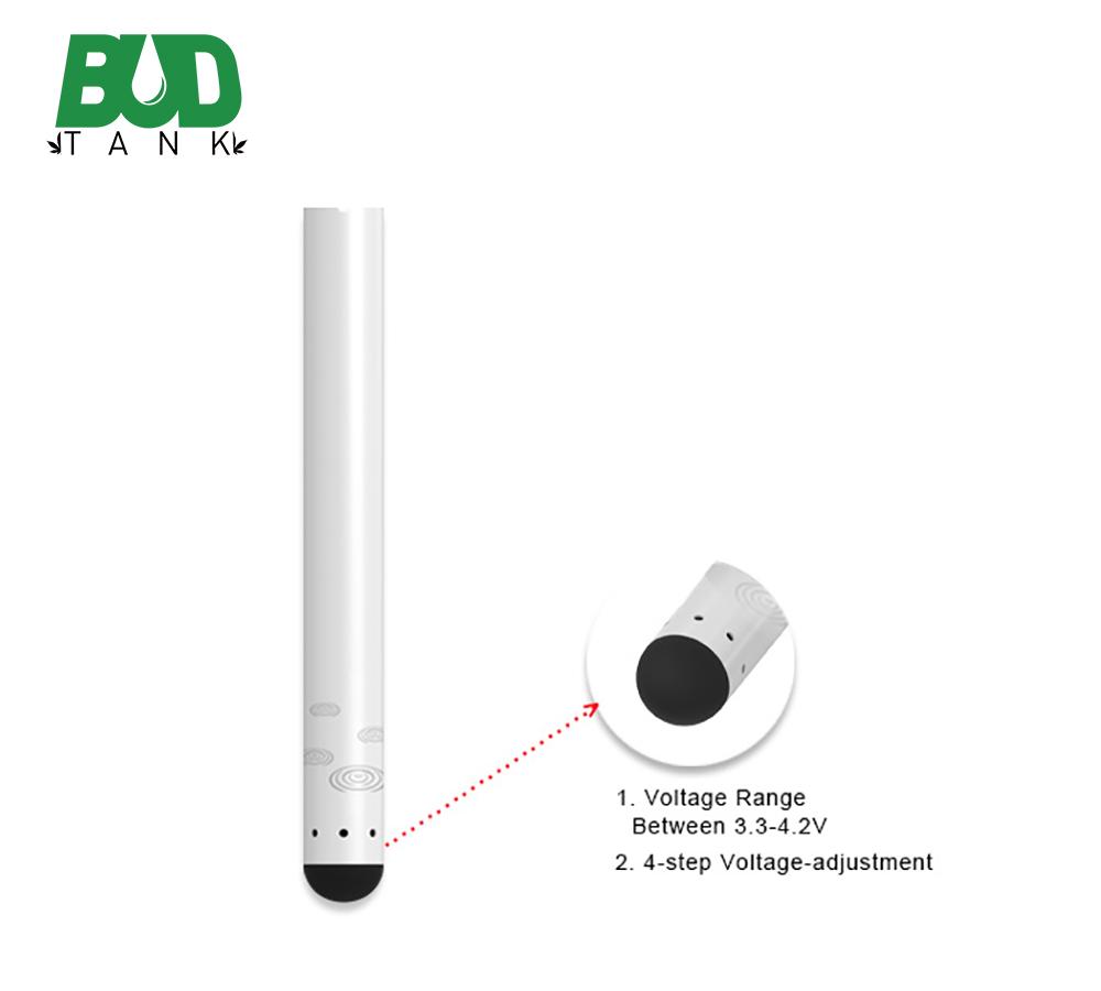 BUDTANK 510 Battery Custom Logo Variable Voltage Preheat Cbd Battery - MrVaper.net