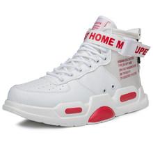 Новые модные мужские кроссовки с высоким берцем, баскетбольные кроссовки для мужчин, черные/белые спортивные ботильоны на открытом воздухе...(Китай)