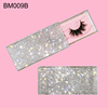 clear rhinestone  Pink glitter card
