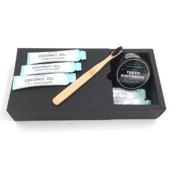 Amazon No.1 Selling Natural Ingredient Private Logo Gift Kit Charcoal Teeth Whitening