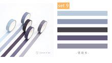 5 шт. чистый цвет Бумага васи лента 100 цветов 10 мм клейкие Декоративные Маскирующие наклейки с лентами альбом журнал для офиса DIY H6352(Китай)