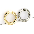Metal Ring Ringmetal BT-55 Zinc Alloy Gold Sliver Round Accessories For Key Metal Round Carabiner Ring Spring Accessories Snap Hook