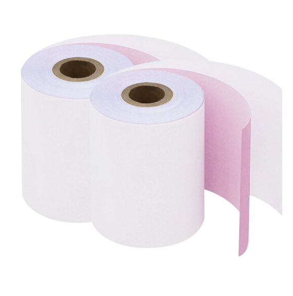 45-80GSM Colorful Carbonless Paper NCR ATM Small Roll