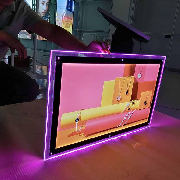 Professional Manufacturer hanging acrylic crystal LED panel light box