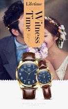 Мужские и женские часы с кожаным ремешком OLEVS, повседневные часы для влюбленных, 2019(Китай)