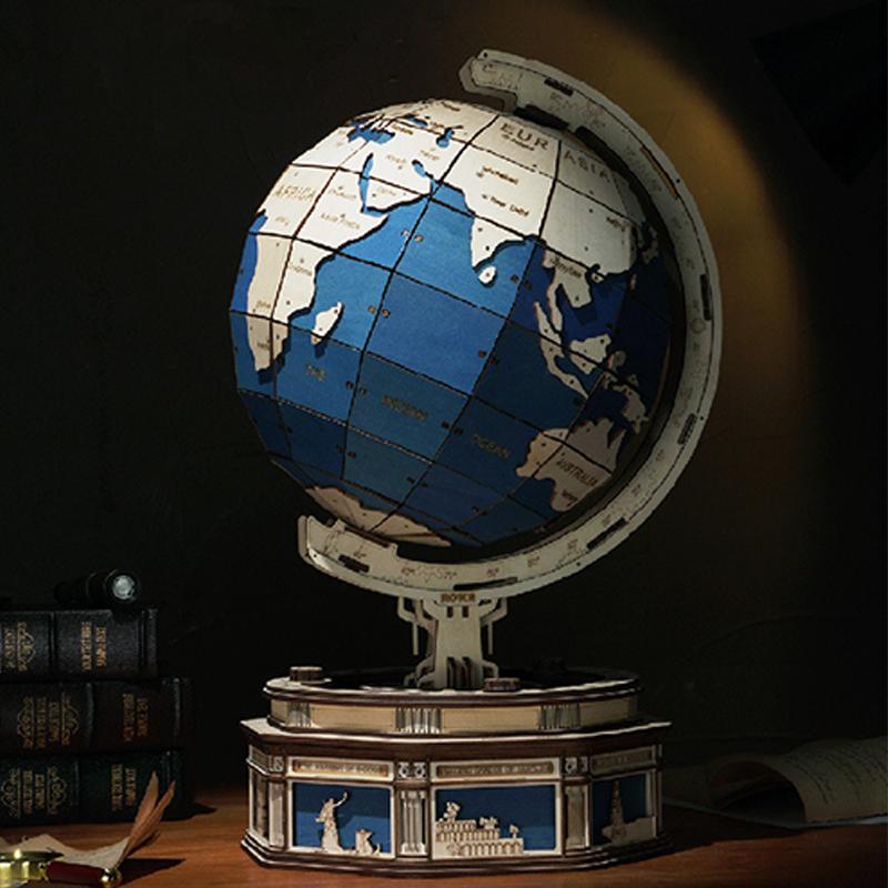Раннее Обучение, деревянный шар для детей и взрослых, деревянные поделки своими руками, Детские креативные сборные 3D головоломки, деревянный шар, модель игрушки
