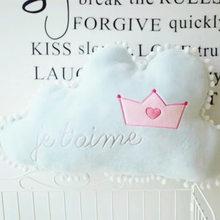 Романтическая мягкая подушка с французскими буквами Kawaii Cloud, плюшевая Съемная подушка для детской комнаты, спальни, Декор, спинка(Китай)