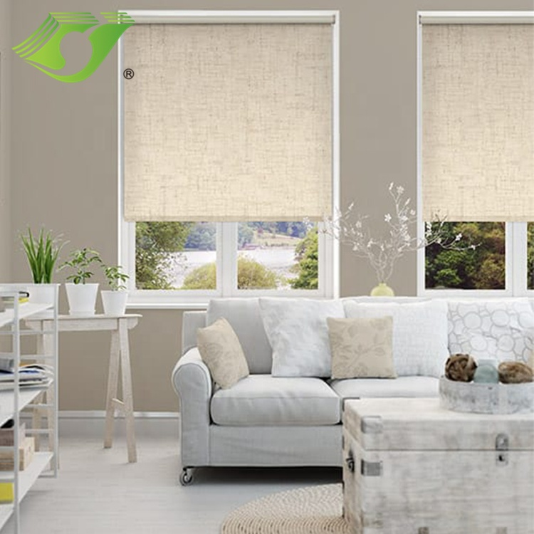 Stardeco motorised roller blinds with remote control roller shade custom made electric Full shading window blind