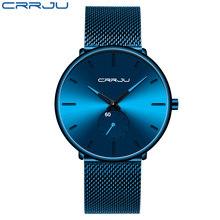 Мужские и женские часы CRRJU, модные ультратонкие наручные часы унисекс(Китай)