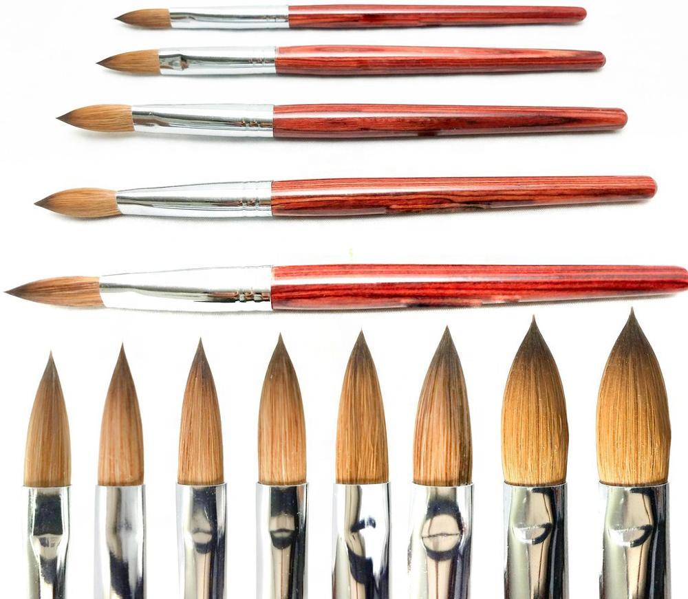 Индивидуальные Нейлоновые Колонковые акриловые инструменты для ногтей кисть для дизайна ногтей