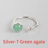 Silver-7 Green agate