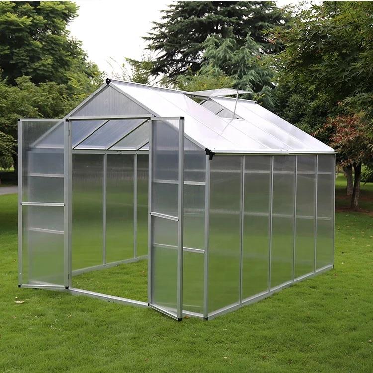 Недорогая поликарбонатная листовая крышка восьмиугольная алюминиевая рамка для теплиц наружное садовое оборудование