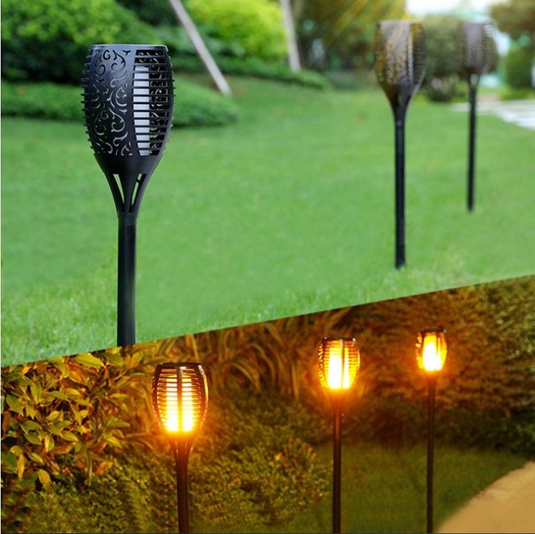 Водонепроницаемый светодиодный фонарик IP65 с мерцающим пламенем, 96 светодиодов для сада