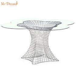 Уличный обеденный стол и стулья из нержавеющей стали для любой погоды