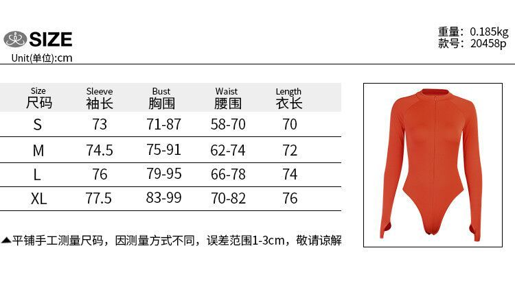 Sexy Bodysuit Reflective Letter High Cut Long Sleeve Body Suits for Women Lime Green Neon Orange Clubwear Fall