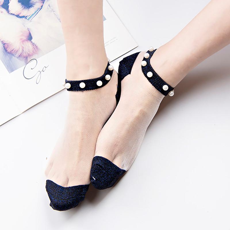 Сексуальные кружевные сетчатые шелковые носки в сетку, прозрачные эластичные тонкие женские носки, 1 пара = 2 шт. ws409(Китай)