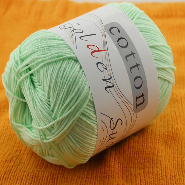 High quality milk cotton yarn 100% cotton crochet yarn different colors available 8ply yarn for scarf