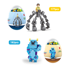 Toy Children Toys Educational 4 Packs Filled Building Blocks Toy Children Easter Eggs Blocks Toys Dinousar Egg-shaped Educational Building Toy For Kids