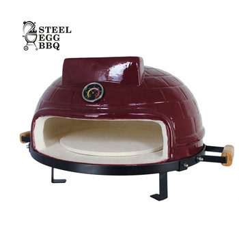 SEB / STEEL EGG BBQ New Design Kamado 21 Inch Grill Tabletop Ceramic Wood Fired Pizza Oven for Home Garden Party Outdoor