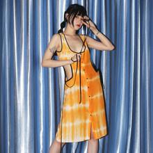 Женское платье с принтом EAM, платье с завязками, круглый ворот, без рукавов, свободный крой, весна-лето 2020(Китай)