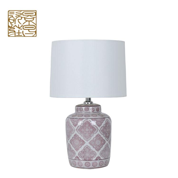 Wholesale Antique Banker Lamp, Porcelain Bed Side Portable Luminaire Ceramic Table Lamp Modern