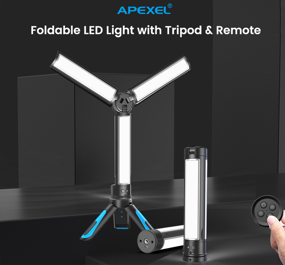 Foldable Photography Fill Light Remote Led Photo Video Light Makeup Rechargeable Filling Light for home office