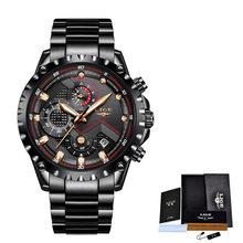LIGE новые мужские часы Топ люксовый бренд модный спортивный водонепроницаемый хронограф мужские наручные часы из нержавеющей стали мужские...(Китай)