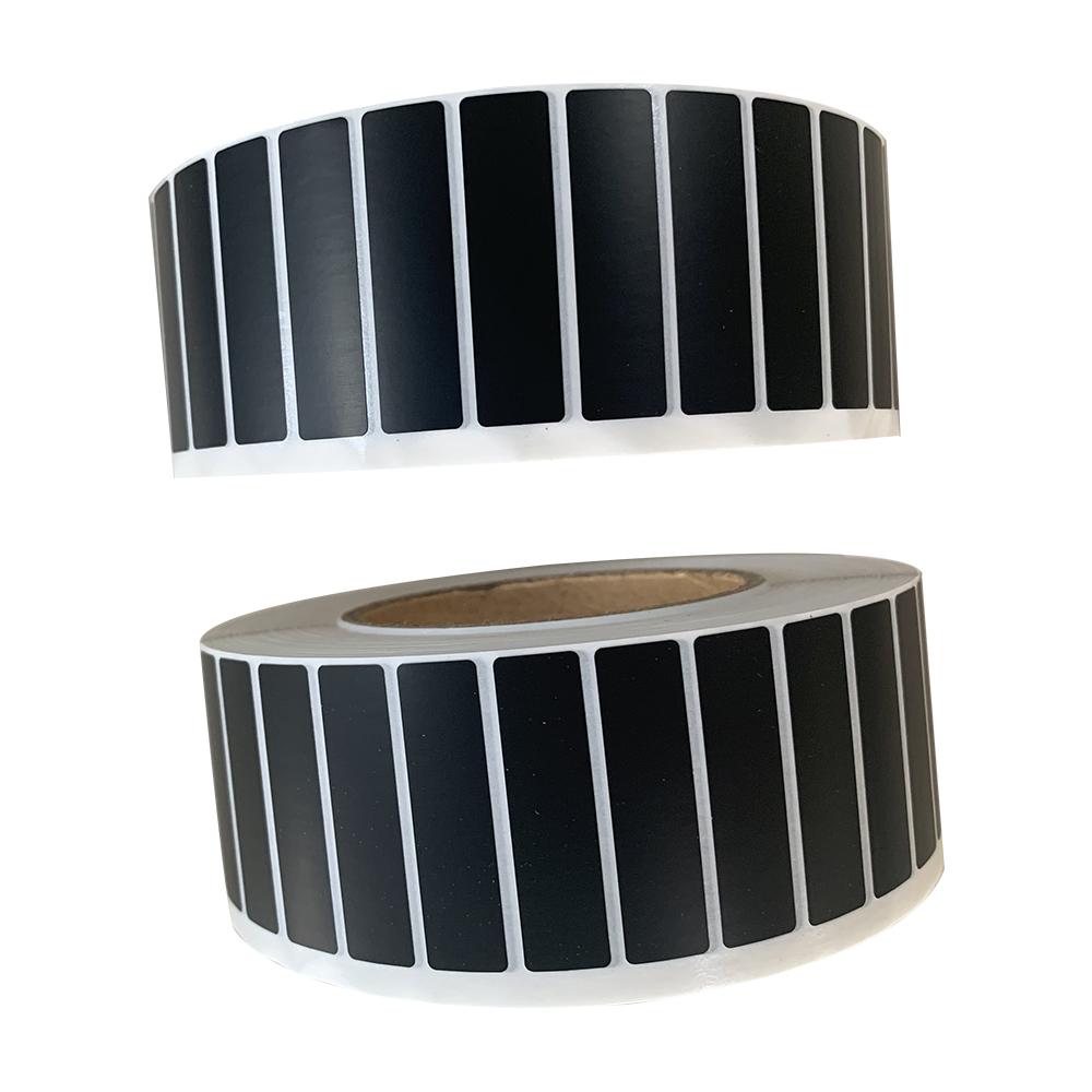 preprinted black matte pp labels for machines