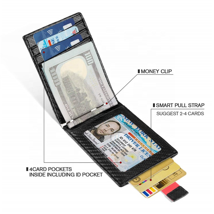 custom handmade minimalist rfid wallet bifold slim mens wallet coin pocket rfid blocking leather wallet