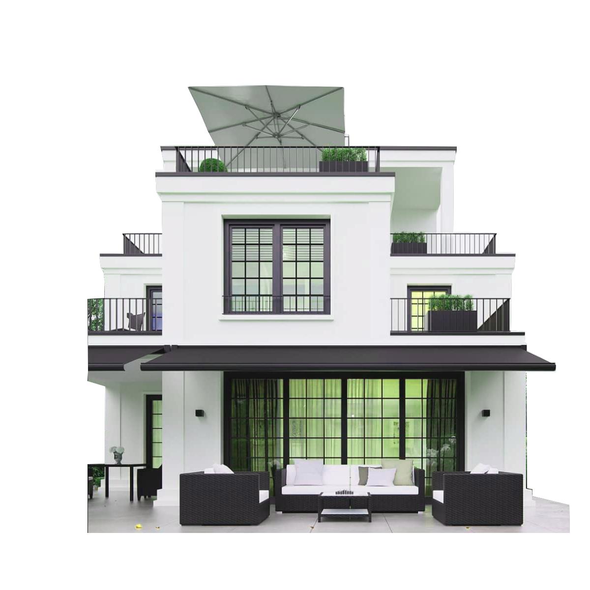 personalized customization prefabricated luxury light steel villa house