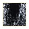 Zwart & wit met gouden metalen frame