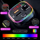 Usb Wireless Fm Transmitter Usbusb Fm Transmitter Car Charger LUTU C13 Colorful Atmosphere Lamp Daul Usb PD18W Fast Charger Wireless Car Kit BT Fm Transmitter With BT
